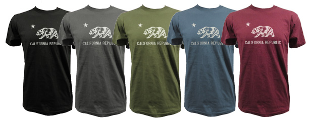 CA Republic T-shirt color selections
