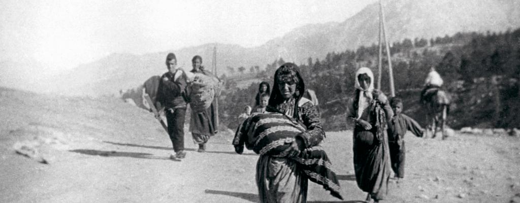 Armenian refugees fleeing their homeland, ca. 1915. Photo by Armin Wagner. Courtesy of Armenian Museum of Fresno
