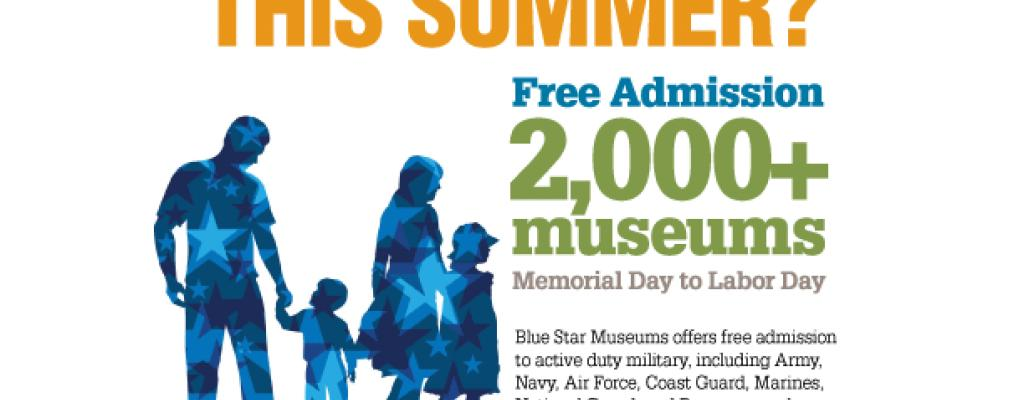 Blue Star Museums graphic