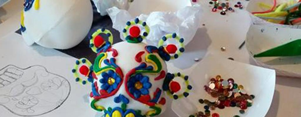 Sugar skull workshop photo
