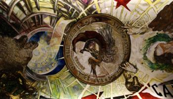 """Ceiling mural in """"The Hall of Promise"""""""