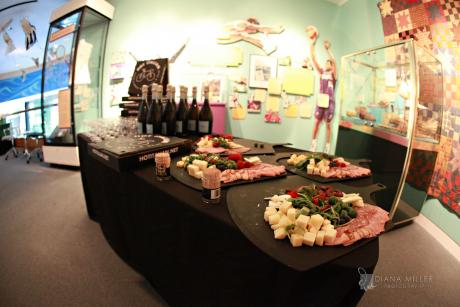 "Mezzanine reception in ""California's Remarkable Women"""