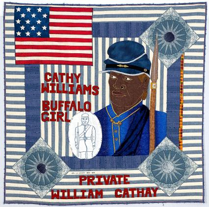 """Cathy Williams – Buffalo Girl"" quilt photo"