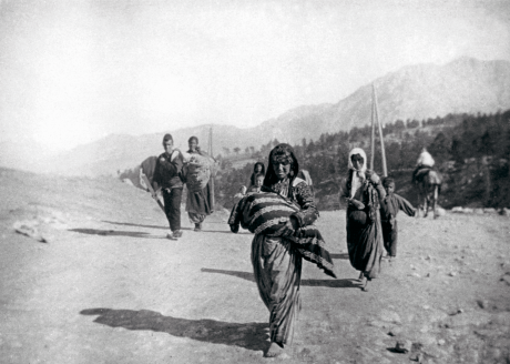 Armenian refugees fleeing their homeland, ca. 1915. Photo by Armin Wagner. Courtesy of Armenian Museum of Fresno.