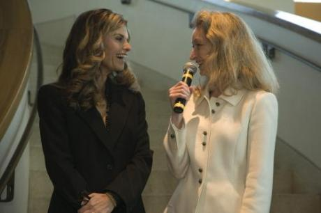 Maria Shriver and Secretary of State Debra Bowen