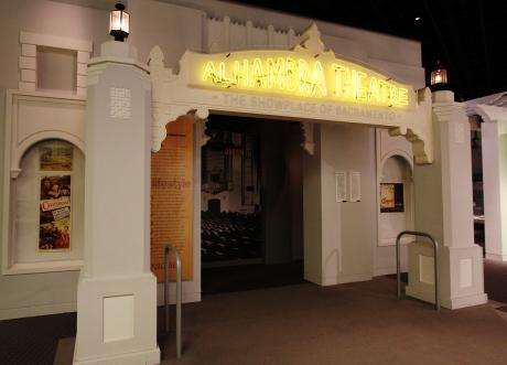 """Alhambra Theater"" with movie reel of California highlights"