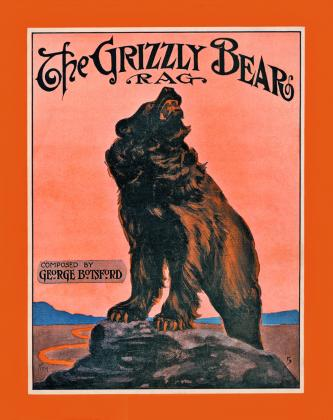 """Grizzly Bear Rag"" sheet music, courtesy of The Bancroft Library."