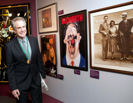 Inductee Warren Beatty in the 7th Annual California Hall of Fame artifact exhibit at The California Museum. Photo by Robert Durell. © The California Museum.