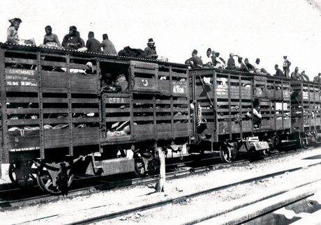 Armenians being deported from their homeland on the Baghdad Railway. Courtesy of Armenian Museum of Fresno.