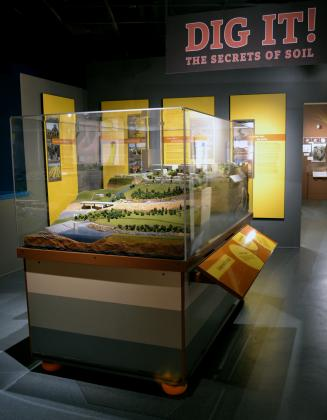 """Dig It! The Secrets of Soil"" is a national traveling exhibit exploring the skin of the earth now open at The California Museum through March 29, 2015. (Image ©2014 The California Museum.)"