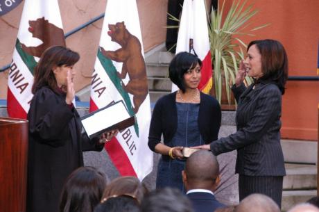 State Attorney General Kamala Harris inauguration