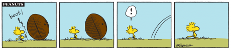 """Peanuts"" © 1972 Peanuts Worldwide LLC. Courtesy of Charles M. Schulz Museum."