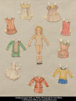 Paper dolls circa 1920s by Ray Eames. © 2013 Eames Office LLC (eamesoffice.com)