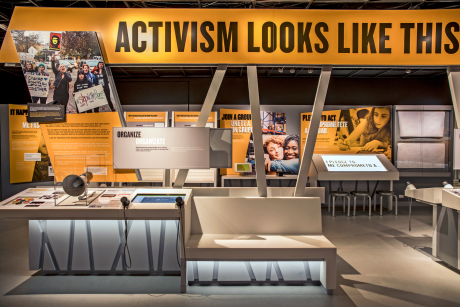 """Organize"" and ""Activism Looks Like This"" section photo"