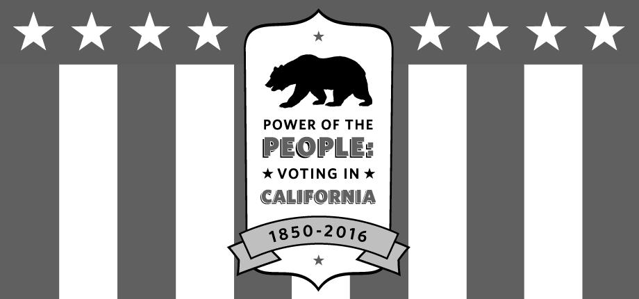 Image of VOTING IN CALIFORNIA, 1850-2016