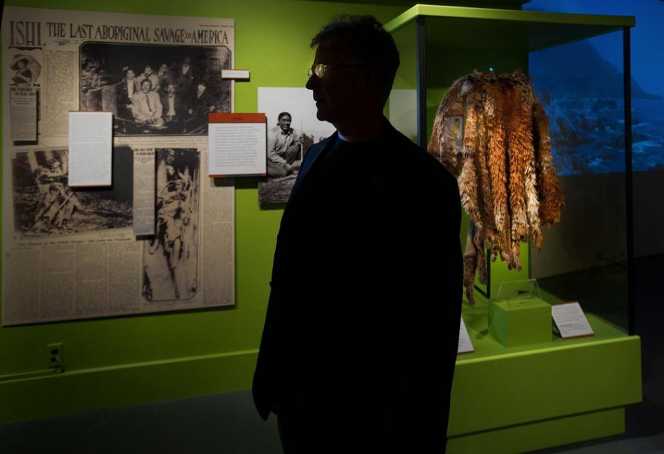 Image of California Museum opening exhibit on 100th anniversary of day Ishi was found