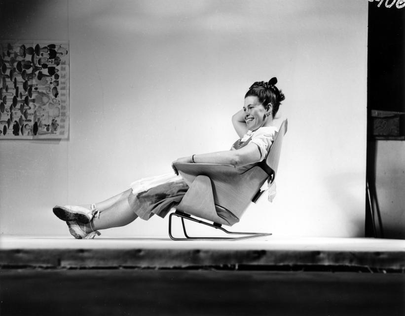 Image of Designer Ray Eames in the spotlight