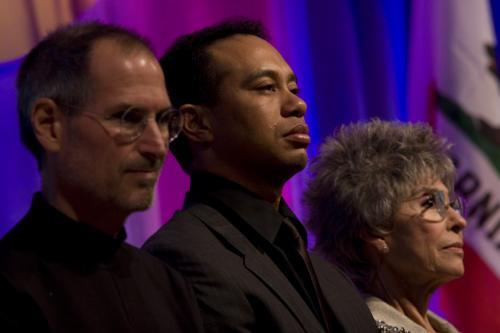 Steve Jobs, Tiger Woods, Rita Moreno CAHoF 2007 Induction Ceremony