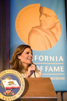 First Lady Maria Shriver Speech CAHoF 2007 Induction Ceremony