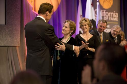 Alice Waters being honored