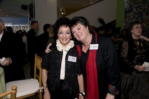 Museum Trustee Marcy Friedman and Executive Director Claudia French
