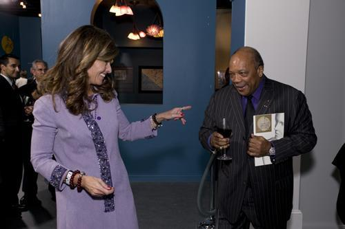 Maria Shriver and Quincy Jones
