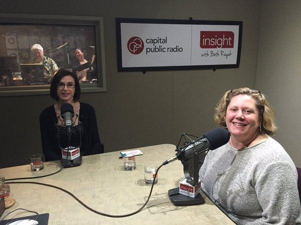 Executive Director Amanda Meeker and Sacramento Jewish Film Festival organizer Sig Garcia-Heberger, courtesy of Capital Public Radio.
