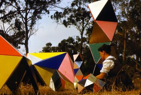 Image of Ray Eames at the California Museum