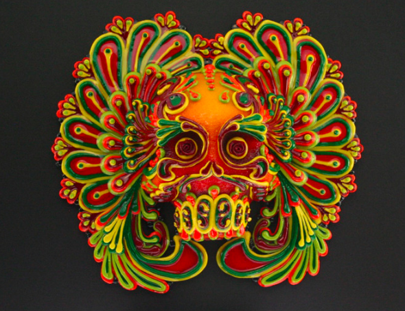 Local sugar skull artist Rob-O, whose work is shown here, will teach a class at the California Museum Oct. 29.