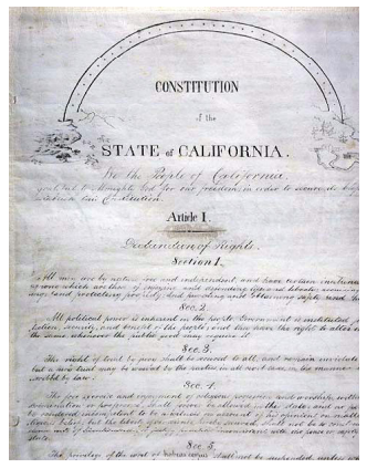 Image of The California Constitution