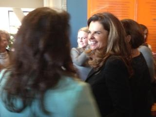 PHOTO: Maria Shriver meets event attendees before speaking about women and poverty at the California Museum on January 30, 2014. The Sacramento Bee/Alexei Koseff