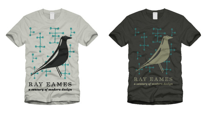 Ray Eames exhibit tees