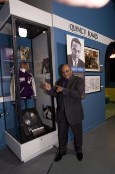 Quincy Jones and his California Hall of Fame exhibit