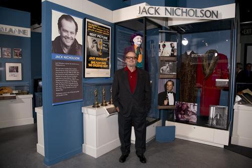 Jack Nicholson with California Hall of Fame Exhibit