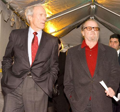Tough guys and inductees Clint Eastwood and Jack Nicholson walk the red carpet