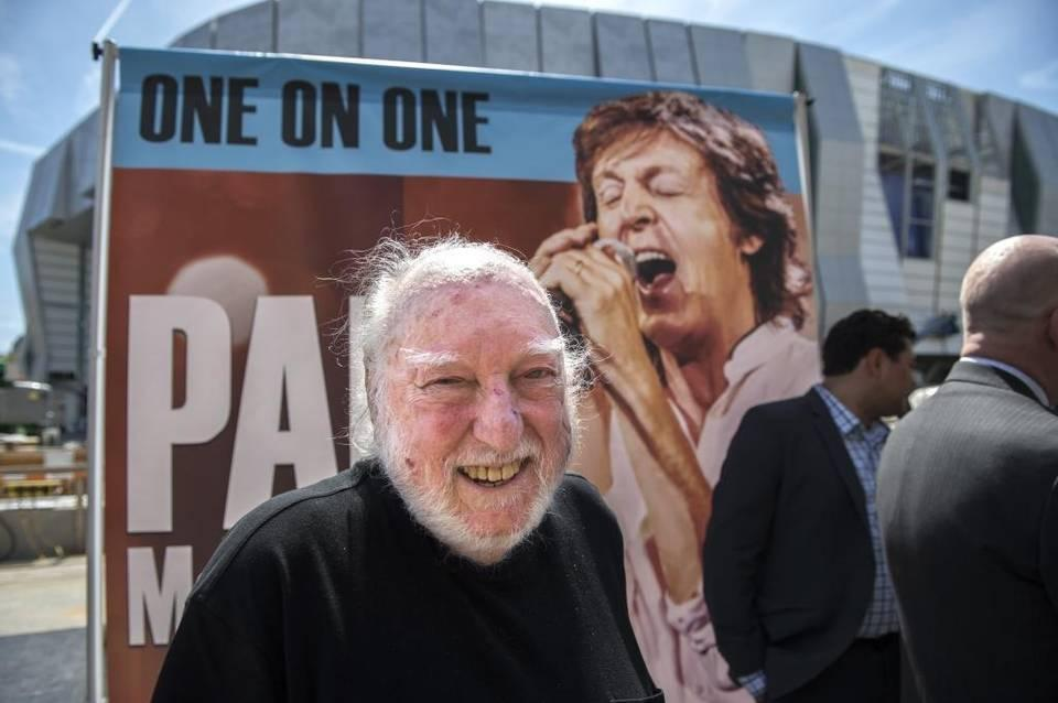 Russ Solomon founder of Tower Records, was happy to hear Paul McCartney announced as the first show at Golden 1 Center on May 2, 2016. Hector Amezcua hamezcua@sacbee.com